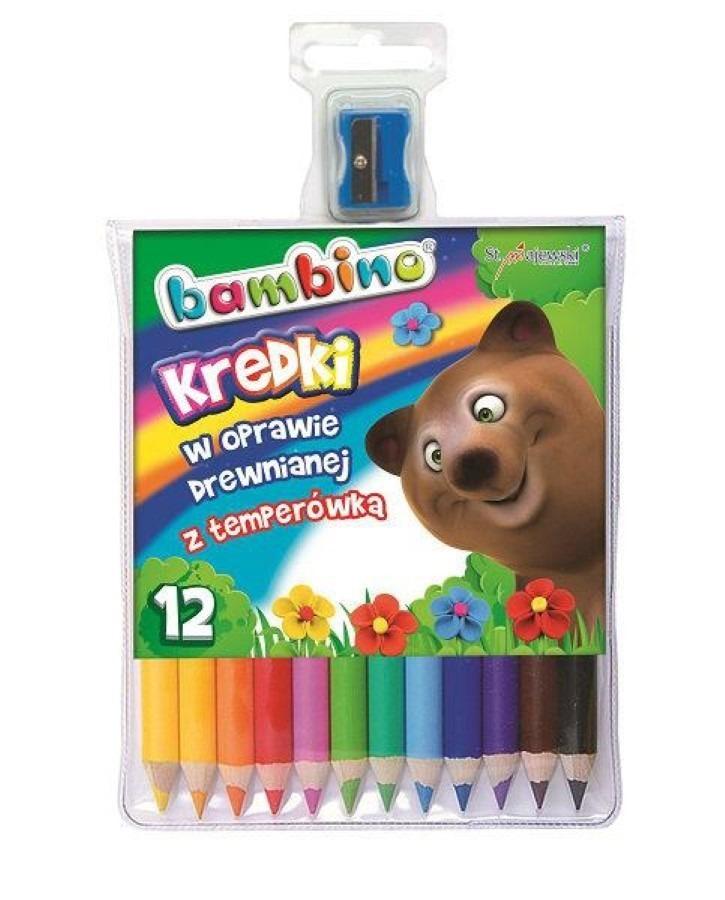 Colorino, kredki świecowe, zwierzątka, 12 kolorów