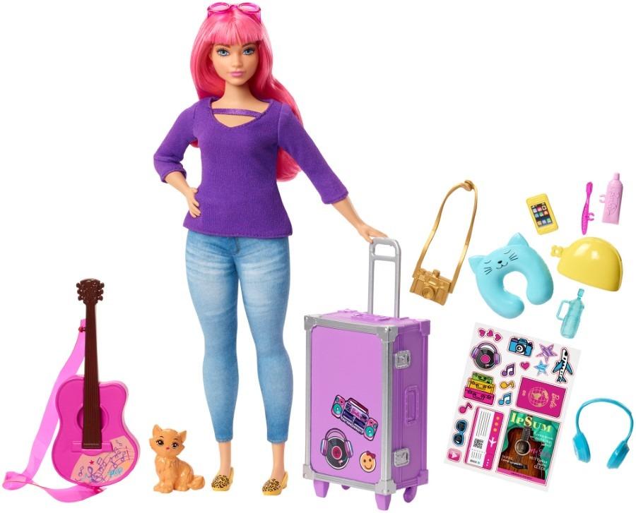Barbie, daisy w podróży, lalka z akcesoriami i naklejkami Smyk 6411548