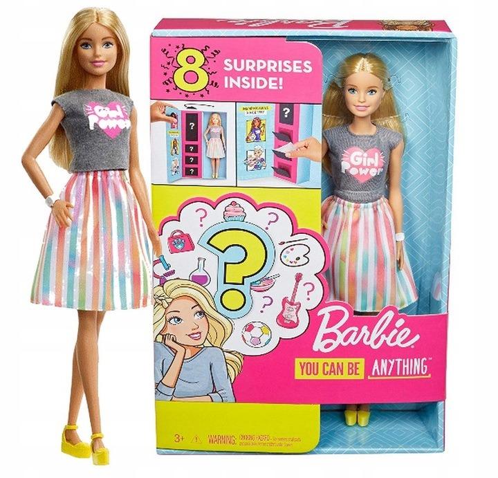 Barbie, kariera niespodzianka, lalka blondynka z akcesoriami, zestaw Smyk 6560858