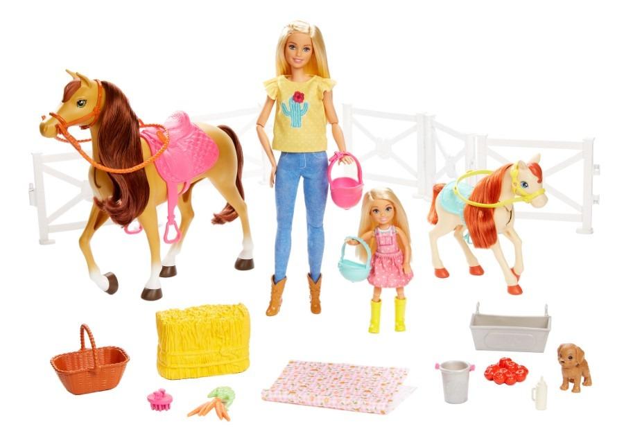 Barbie, stadnina koni, zestaw z lalkami i akcesoriami Smyk 6506059