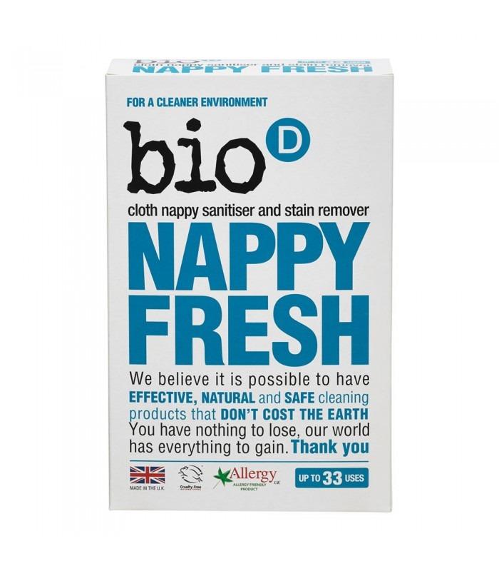 Bio-d, nappy fresh, dodatek do proszku do prania pieluch, 500 g Smyk 5778822