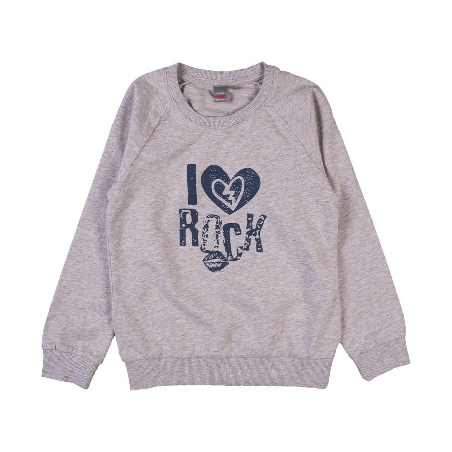 Bluza dziewczęca, szara, I love rock, Kanz