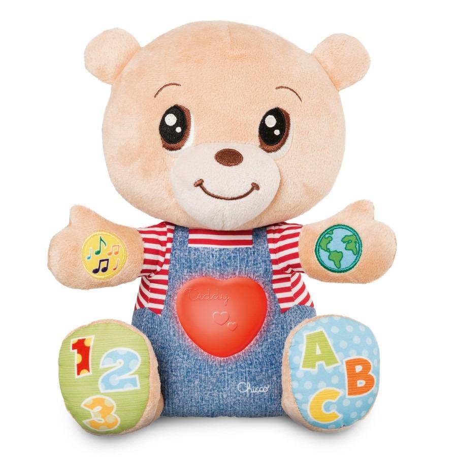 Chicco, teddy, miś okazujący uczucia, dwujęzykowa zabawka edukacyjna, 25 cm Smyk 6367604