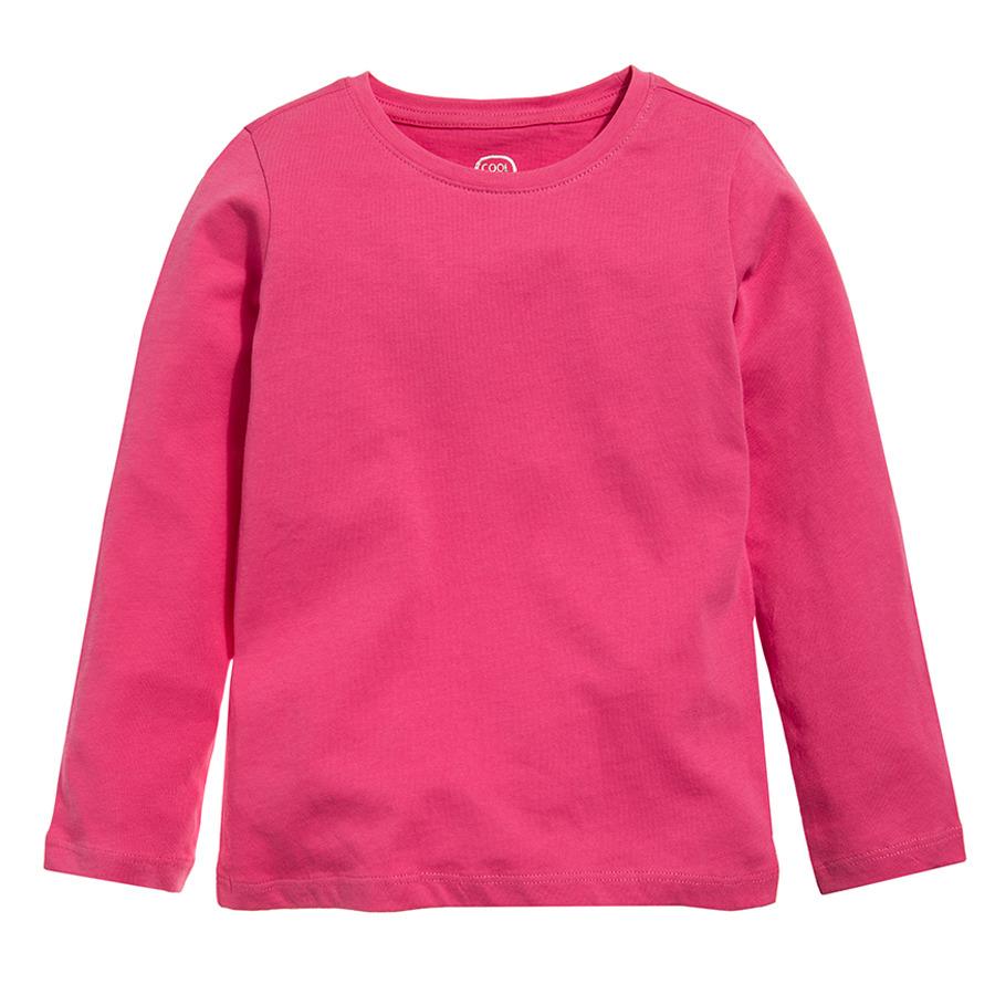Cool Club, Bluzka dziewczęca z długim rękawem, różowa