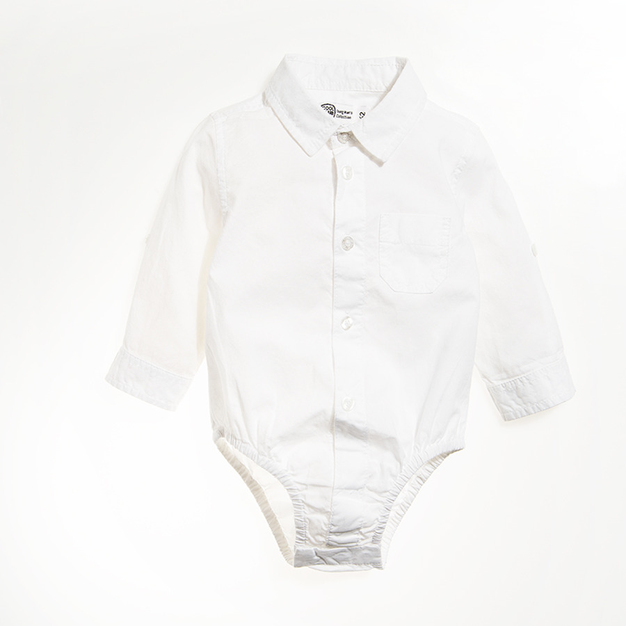 Cool Club, Body chłopięce z długim rękawem, koszulowe, białe