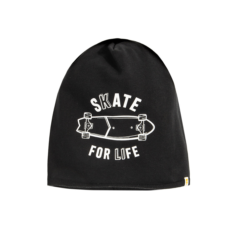 Cool Club, Czapka chłopięca, czarna, Skate for life