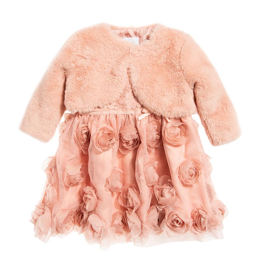 Cool Club, Komplet dziewczęcy, Sukienka z krótkim rękawem, Bolerko z długim rękawem