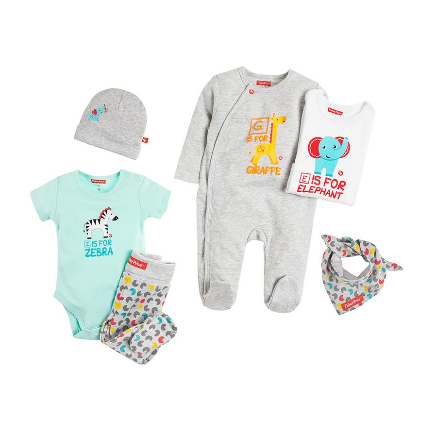 Cool Club, Komplet prezentowy niemowlęcy, Fisher-Price, 6 szt.