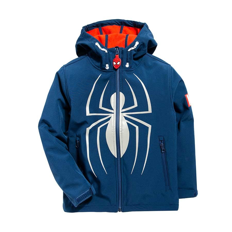 Cool Club, Kurtka jesienna chłopięca z kapturem, granatowa, Spider-Man