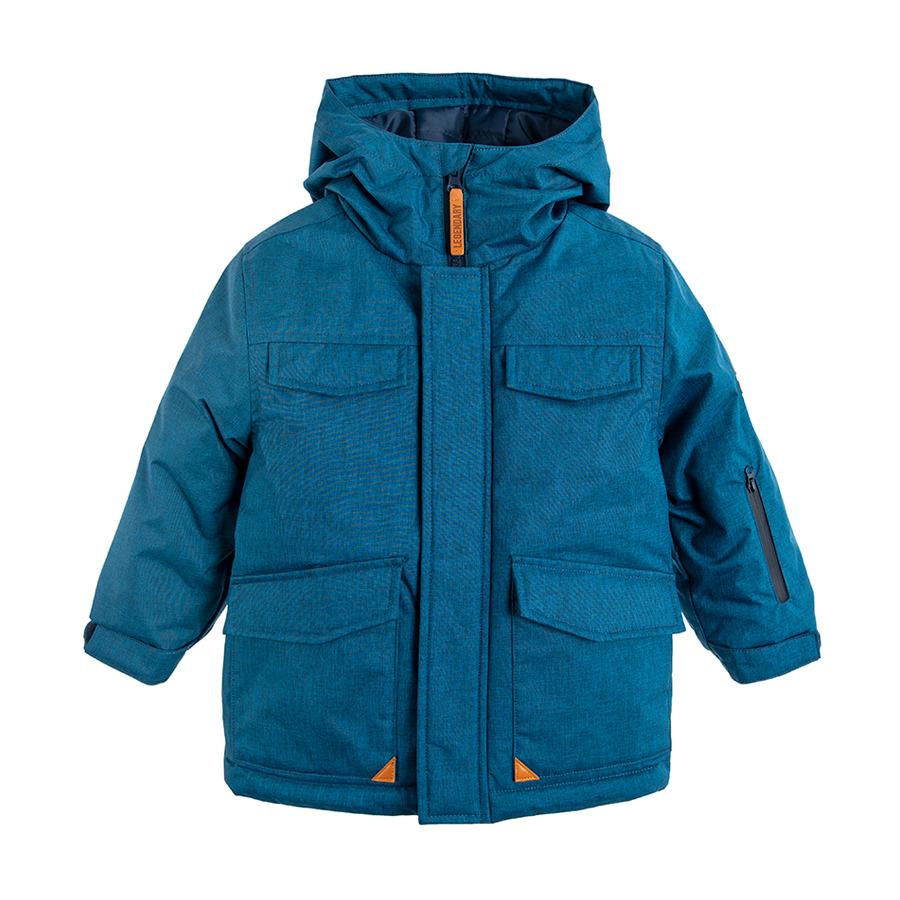 Cool Club, Kurtka narciarska chłopięca z kapturem, niebieska