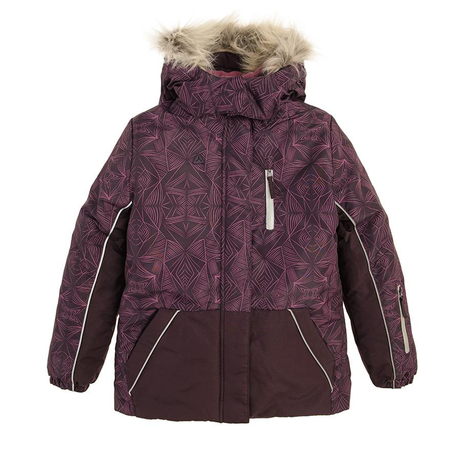 Cool Club, Kurtka narciarska dziewczęca z kapturem, fioletowa