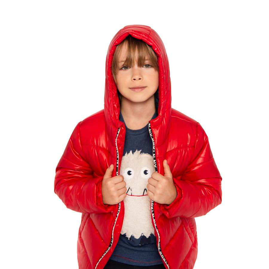 Cool Club, Kurtka zimowa chłopięca z kapturem, czerwona