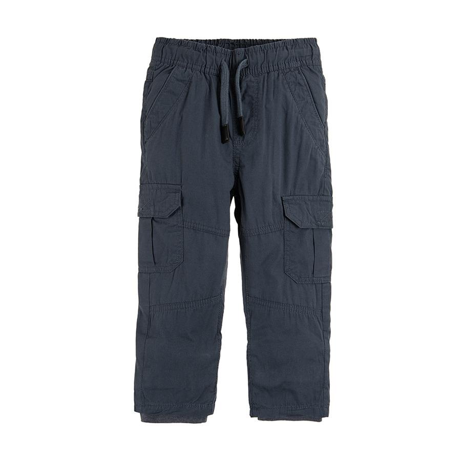 Cool Club, Spodnie bojówki chłopięce, szare, ocieplane