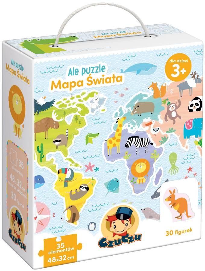 Czuczu, ale puzzle, mapa świata Smyk 6285730