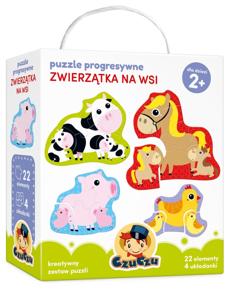 Czuczu, zwierzątka na wsi, puzzle progresywne Smyk 6199547