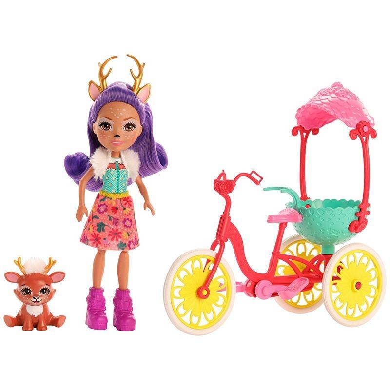 Enchantimals, danessa deer i rowerek, lalka z akcesoriami Smyk 6633861
