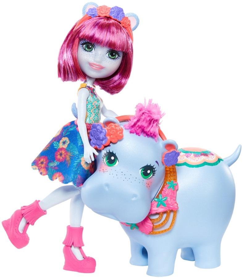 Enchantimals, hedda hippo i hipopotam, lalka i zwierzątko Smyk 6622841