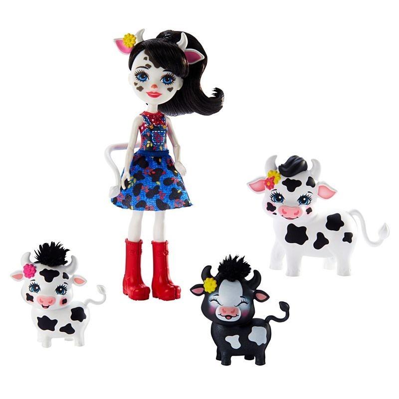 Enchantimals, rodzina cambrie cow, zestaw z lalką i zwierzakami Smyk 6609396