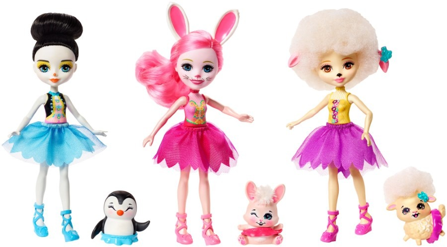 Enchantimals, trzy baletnice, zestaw lalek Smyk 6331626