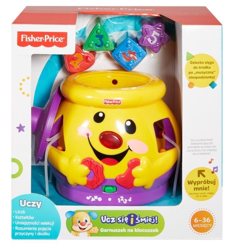 Fisher-price, garnuszek na klocuszek, zabawka edukacyjna Smyk 2072549