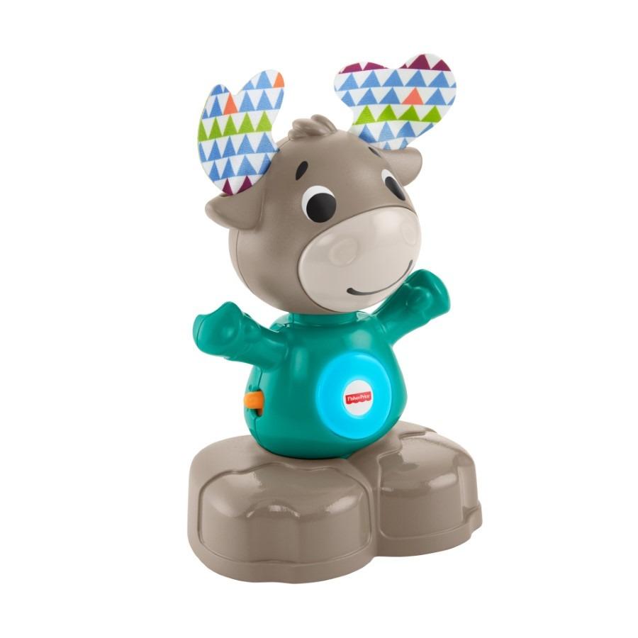 Fisher-price, linkimals, interaktywny łoś, zabawka niemowlęca Smyk 6506694