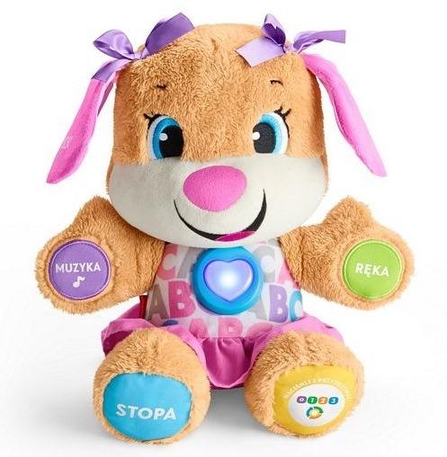 Fisher-price, siostrzyczka szczeniaczka, zabawka interaktywna z 3 poziomami nauki Smyk 6210545