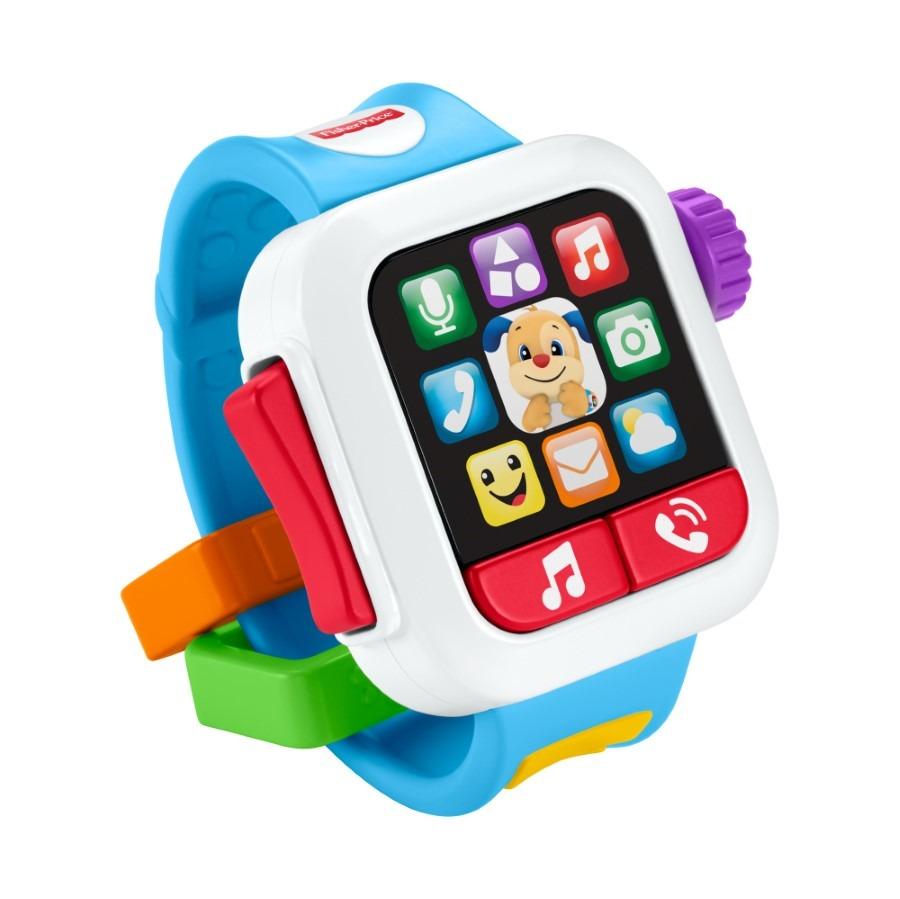 """Fisher-price, smartwatch szczeniaczka """"czas na naukę"""", edukacyjna zabawka niemowlęca Smyk 6619042"""