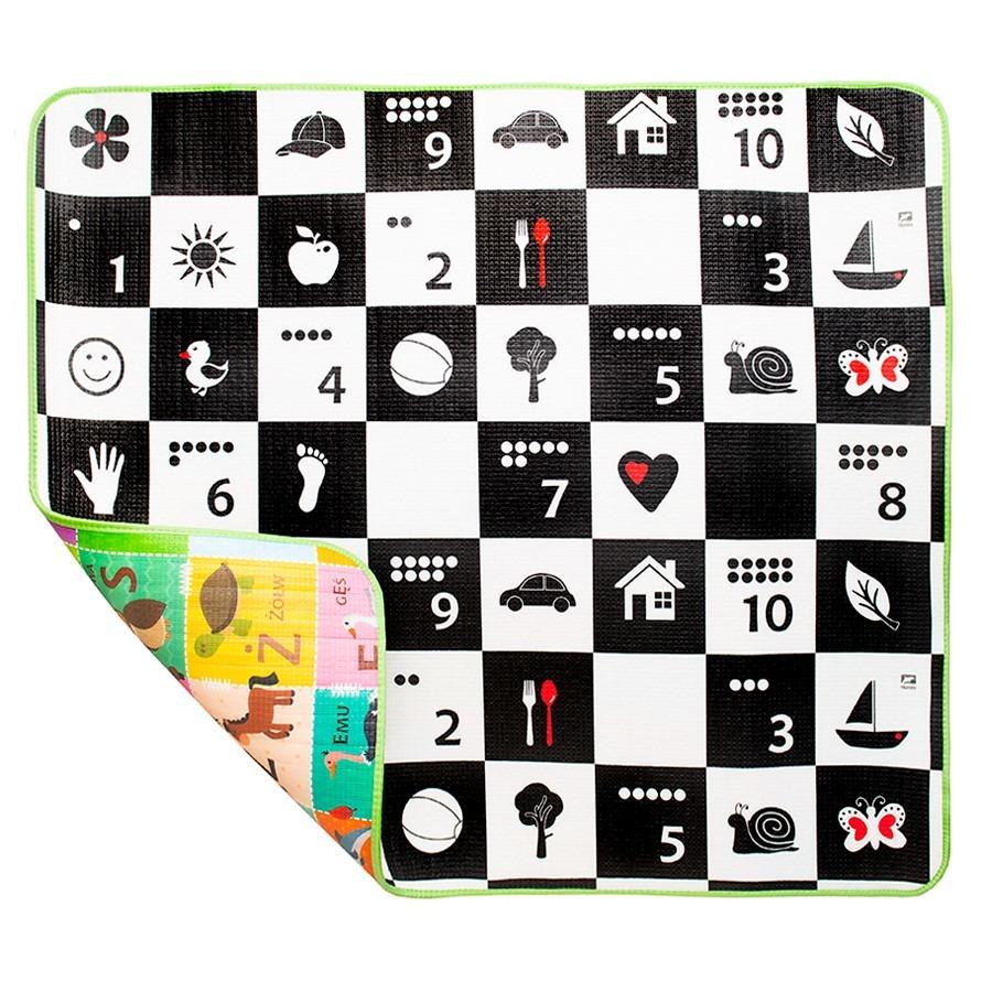 Humbi, szachownica i polski alfabet, piankowa mata edukacyjna, dwustronna, 100x150x1 cm Smyk 6383631