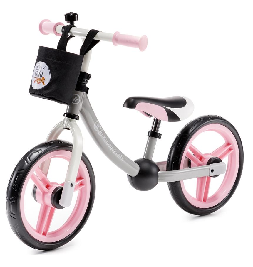 Kinderkraft, 2way next, rowerek biegowy z akcesoriami, jasnoróżowy Smyk 6427848