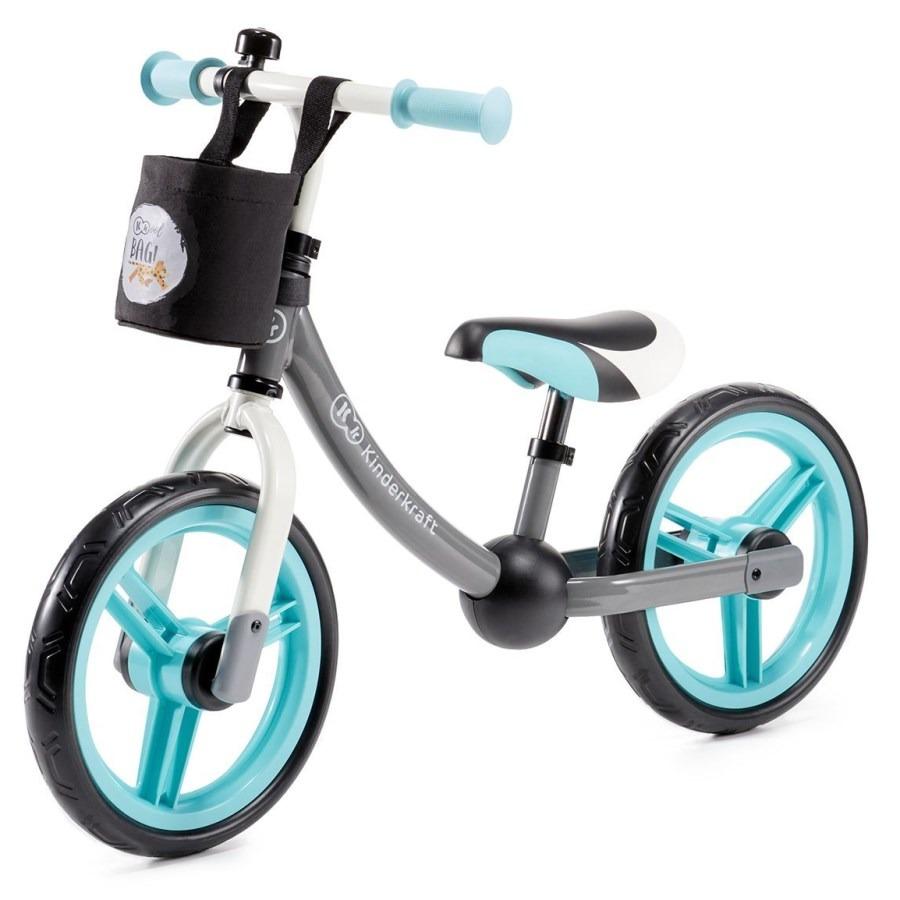 Kinderkraft, 2way next, rowerek biegowy z akcesoriami, turkusowy Smyk 6427849