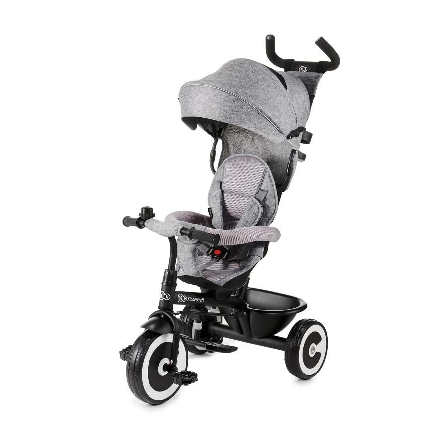Kinderkraft, aston grey, rowerek trójkołowy Smyk 6394969