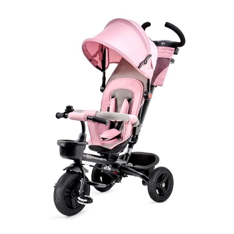 Kinderkraft, aveo, rowerek trójkołowy, różowy Smyk 6258168