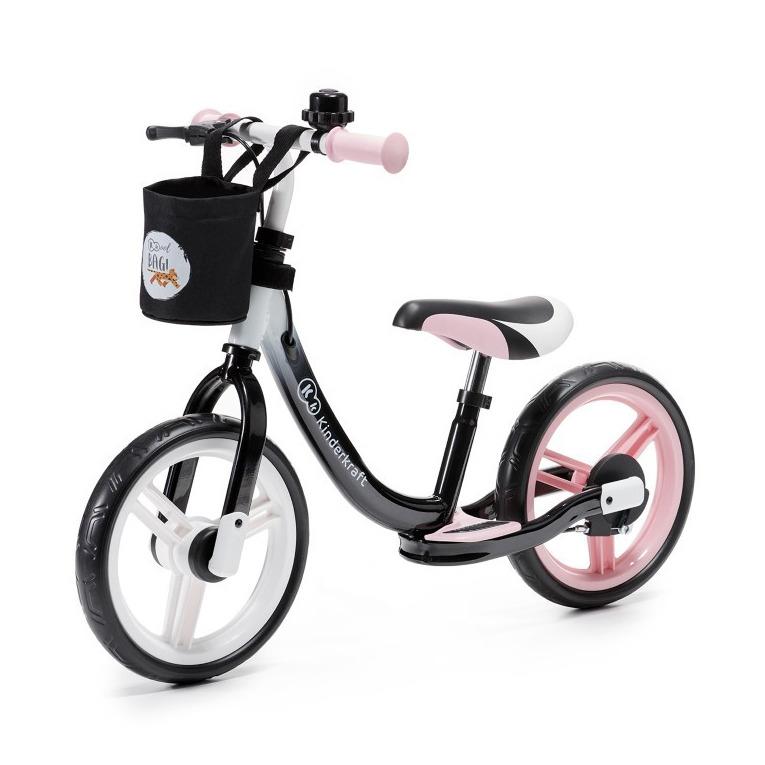 Kinderkraft, space, rowerek biegowy, różowy Smyk 6427857