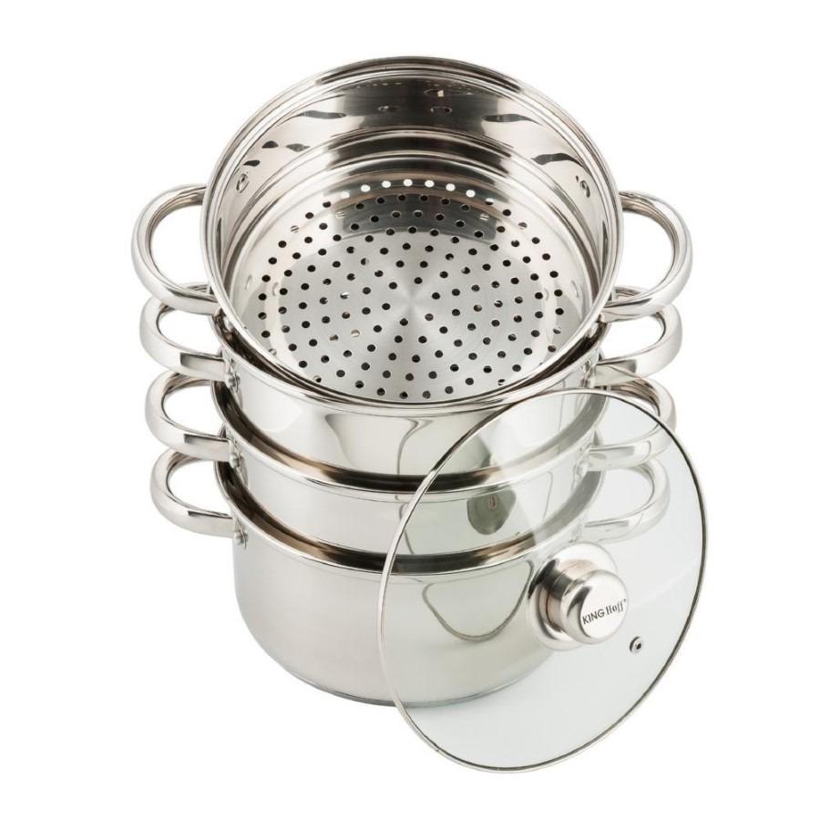 Kinghoff, garnek stalowy do gotowania na parze, 24 cm, 5,0l, kh-3320 Smyk 6471597