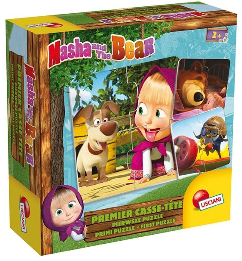 Lisciani, masza i niedźwiedź, pierwsze puzzle Smyk 6521376