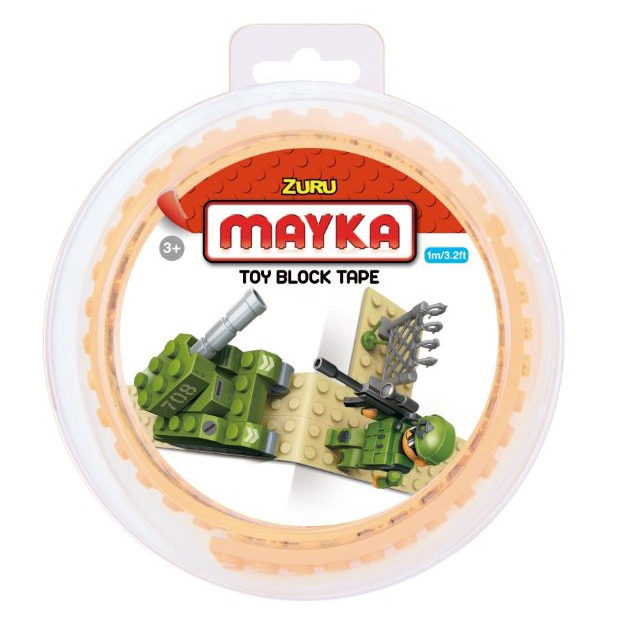 Mayka, klockomania, podwójna taśma do klocków, 1 m, piaskowa Smyk 6232759