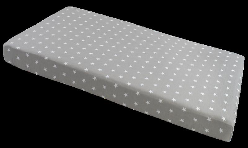 Medi partners, gwiazdki, prześcieradło z gumką, szare, 60×120 cm Smyk 6527913