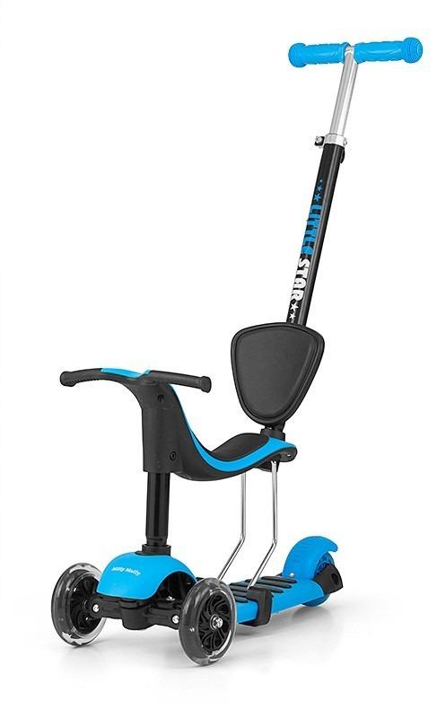Milly mally, scooter little star, hulajnoga, niebieska Smyk 6452026