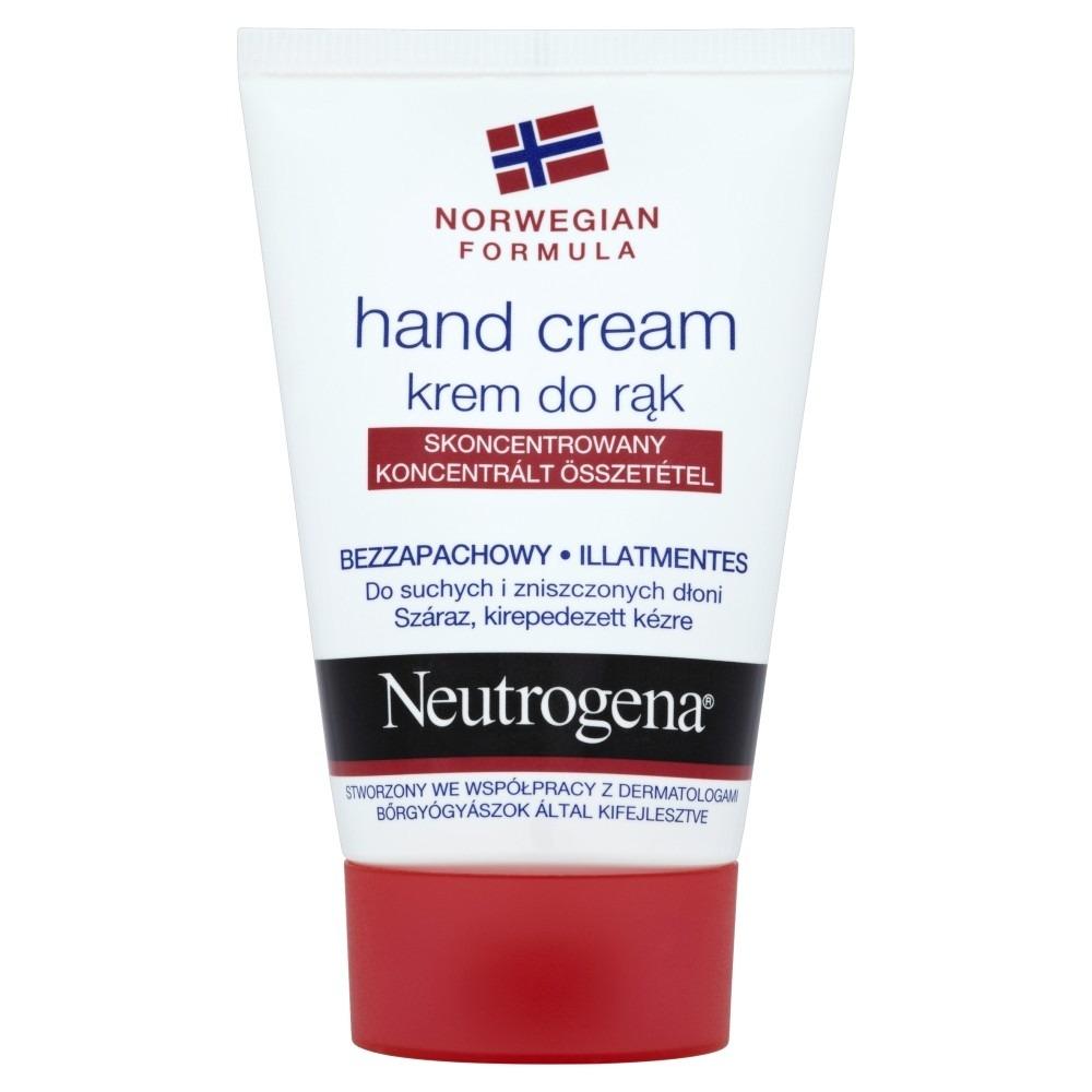 Neutrogena, formuła norweska, bezzapachowy krem do rąk suchych, 50 ml Smyk 6273617