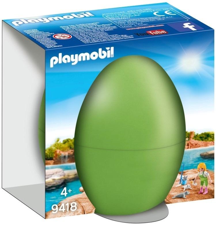 Playmobil, jajko wielkanocne, opiekunka zwierząt z małą foką, 9418 Smyk 6401992