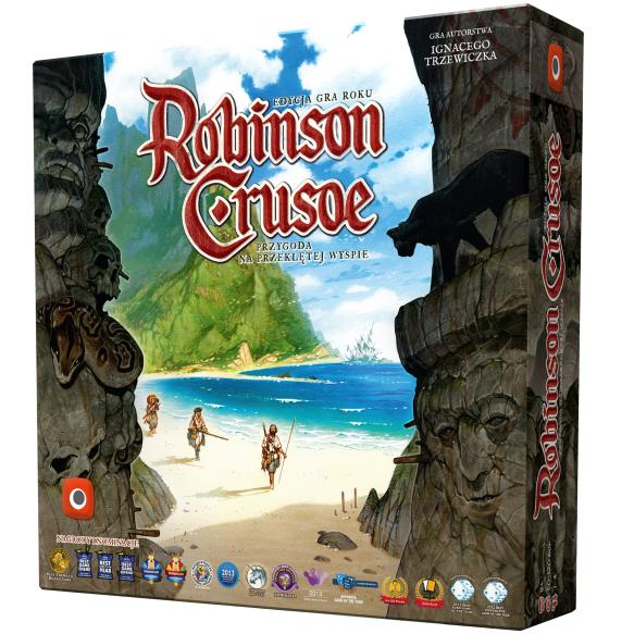 Portal games, robinson crusoe: przygoda na przeklętej wyspie (edycja gra roku), gra strategiczna Smyk 6166123