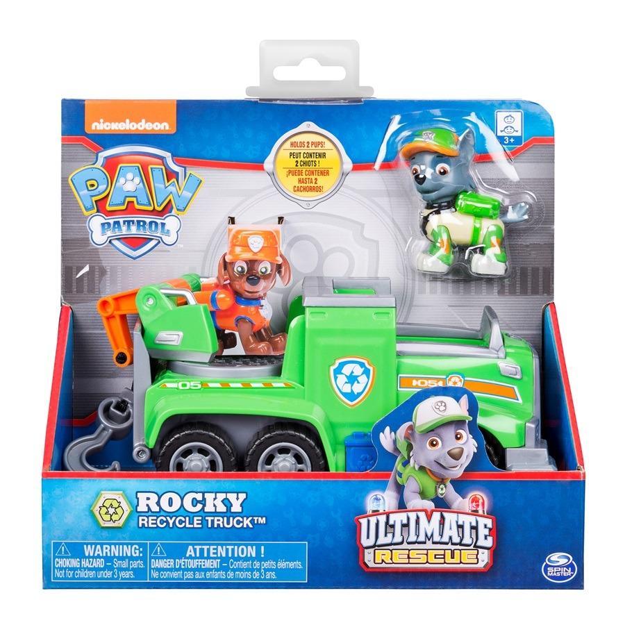 Psi patrol, rocky i pojazd do recyklingu, zestaw z figurką Smyk 6423964