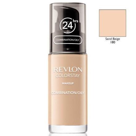 Revlon, colorstay, podkład z pompką do cery mieszanej i tłustej z formułą softflex, 180 sand beige, 30 ml Smyk 5985032