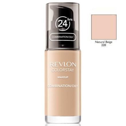 Revlon, colorstay, podkład z pompką do cery mieszanej i tłustej z formułą softflex, 220 natural beige, 30 ml Smyk 5985033