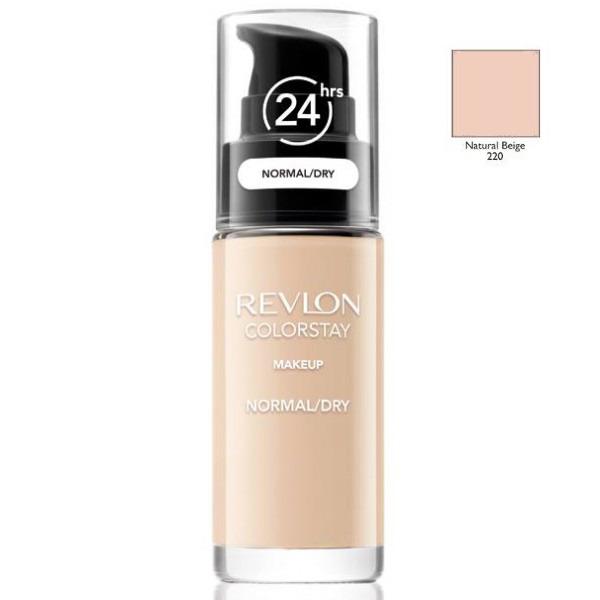 Revlon, colorstay, podkład z pompką do cery normalnej i suchej z formułą softflex, 220 natural beige, 30 ml Smyk 5985044