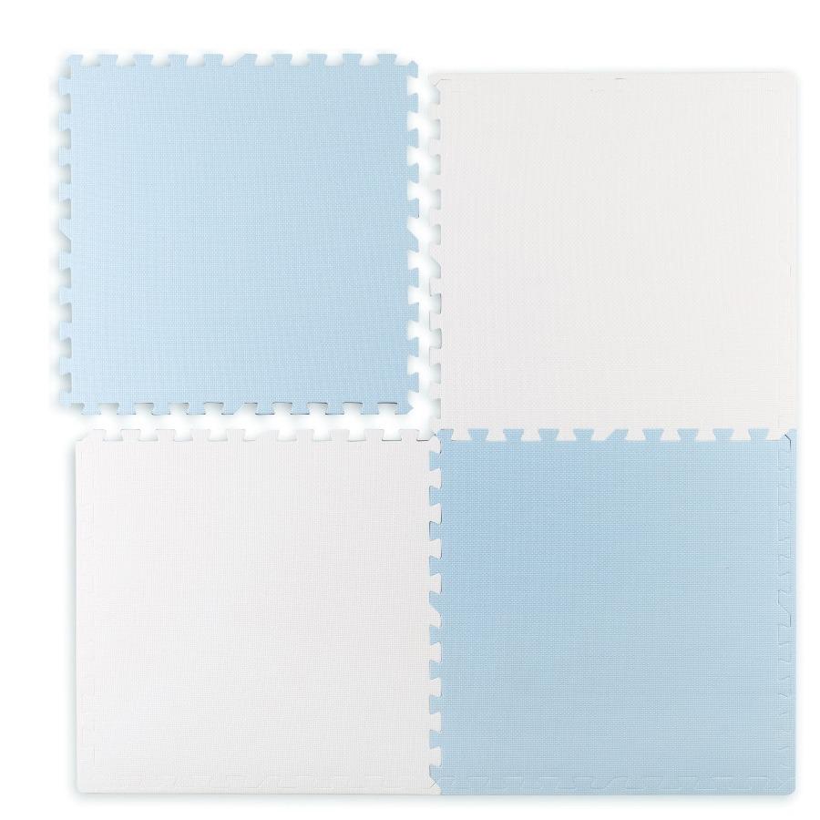 Ricokids, mata piankowa puzzle, biało-niebieska, 60×60 cm Smyk 6575982