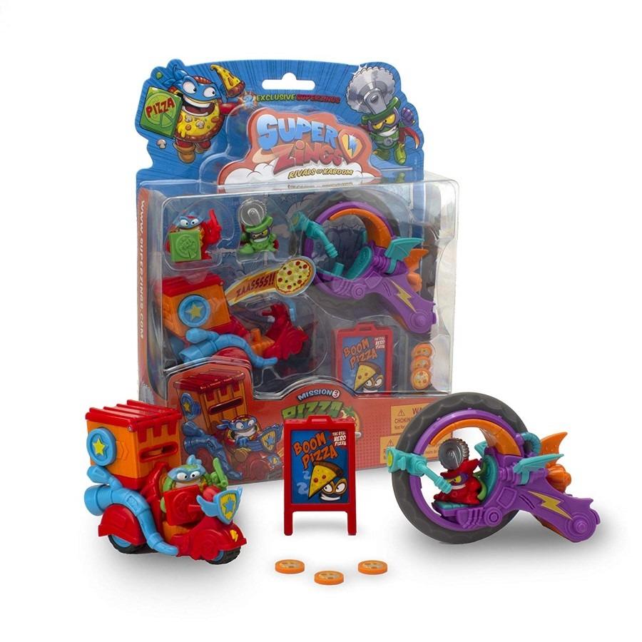 Superzings 3, misje dostawców pizzy, 2 figurki, 2 pojazdy i akcesoria Smyk 6478737
