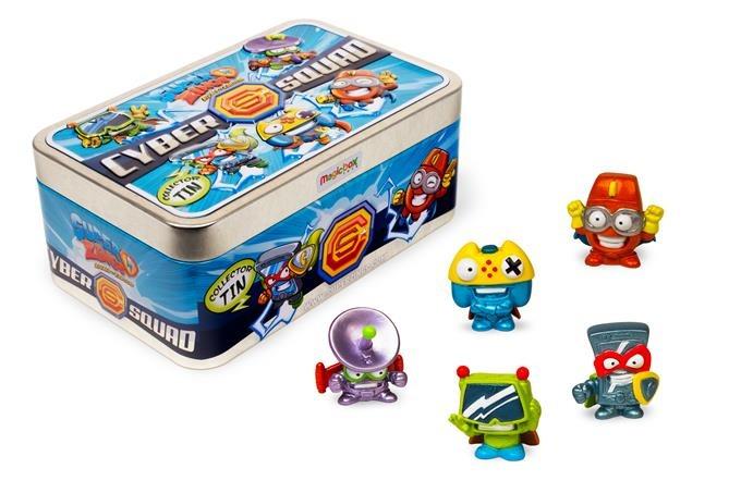 Superzings 2, cyber squad, metalizowane pudełko i 5 figurek, zestaw Smyk 6424667