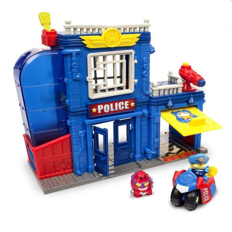 Superzings 2, posterunek policji i 2 figurki, zestaw Smyk 6424673