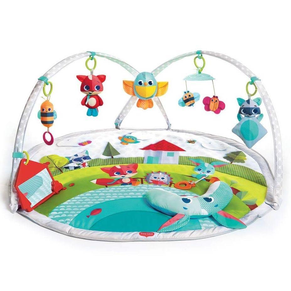 Tiny love, zabawa na łące, gimnastyka dla bobasa z pałąkami, mata edukacyjna Smyk 6218261